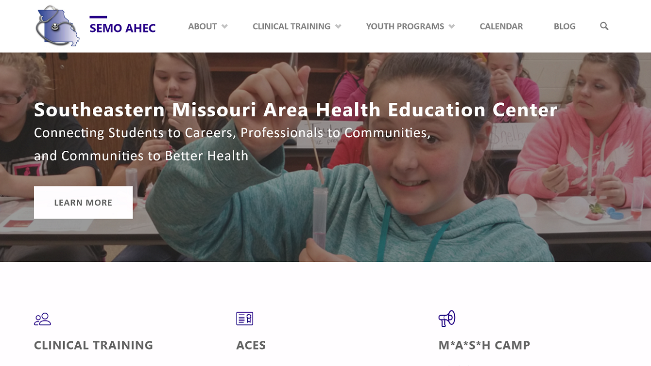 SEMO AHEC website screenshot